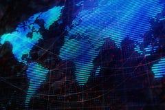 Fondo del mapa de Digitaces stock de ilustración