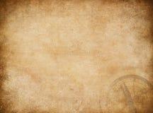 Fondo del mapa de los piratas con el compás imagenes de archivo