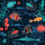 Fondo del mar ilustración del vector