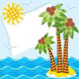 Fondo del mar de las materias textiles. Remiendo stock de ilustración