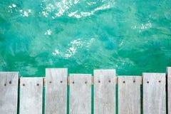 Fondo del mar y del muelle Fotografía de archivo libre de regalías
