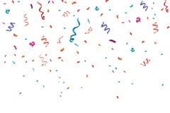 Fondo del marco de la celebración del confeti Horizontal, aniversario stock de ilustración