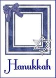 Fondo del marco de la foto de Hanukkah Fotografía de archivo libre de regalías
