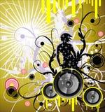 Fondo del marco de la música ilustración del vector