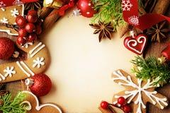 Fondo del marco de la Navidad imagenes de archivo