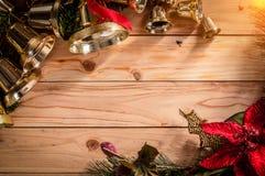 Fondo del marco de la Navidad con la decoración festiva jpg Imágenes de archivo libres de regalías