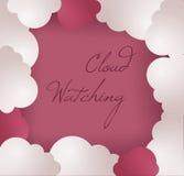 Fondo del marco de la nube Fotografía de archivo