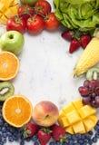 Fondo del marco de las legumbres de fruta Fotos de archivo