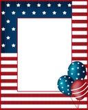 Fondo del marco de los E.E.U.U. del Día de la Independencia Imagen de archivo libre de regalías