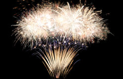 Fondo del marco de los fuegos artificiales del Año Nuevo Fotos de archivo libres de regalías