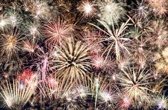 Fondo del marco de los fuegos artificiales del Año Nuevo Fotografía de archivo libre de regalías