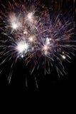 Fondo del marco de los fuegos artificiales del Año Nuevo Imagen de archivo