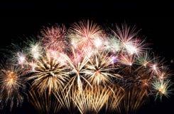 Fondo del marco de los fuegos artificiales del Año Nuevo Imágenes de archivo libres de regalías