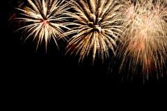 Fondo del marco de los fuegos artificiales del Año Nuevo Imagenes de archivo