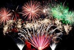 Fondo del marco de los fuegos artificiales del Año Nuevo Foto de archivo