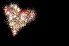Fondo del marco de los fuegos artificiales del Año Nuevo Fotos de archivo
