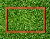 Fondo del marco de madera Imágenes de archivo libres de regalías