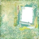 Fondo del marco del diseño floral del batik de Artisti Foto de archivo libre de regalías