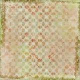 Fondo del marco del diseño floral del batik de Artisti Fotografía de archivo libre de regalías