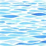 Fondo del mare dell'acquerello Immagini Stock Libere da Diritti