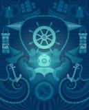 Fondo del marinaio di vettore Fotografia Stock