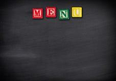 Fondo del menú Imagen de archivo libre de regalías