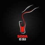 Fondo del menú del diseño del chapoteo de la botella de soda Imagen de archivo
