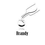 Fondo del menú del diseño del vidrio de brandy Foto de archivo libre de regalías