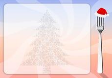 Fondo del menú de la Navidad Imágenes de archivo libres de regalías