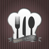 Fondo del menu del ristorante Fotografia Stock