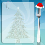 Fondo del menu di Natale Fotografie Stock