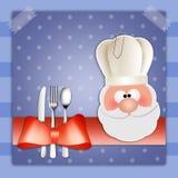 Fondo del menu di Natale Fotografia Stock Libera da Diritti