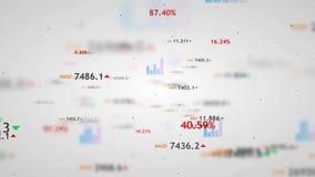 Fondo del mercado de acción de Digitaces Tormenta de los datos libre illustration