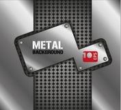 Fondo del metal Foto de archivo