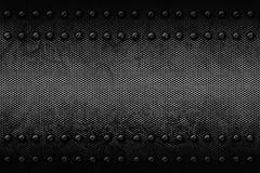 Fondo del metal de Grunge remache en la placa de metal Fotografía de archivo