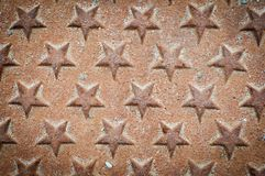 Fondo del metal de las estrellas Imágenes de archivo libres de regalías