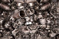 Fondo del metal de los viejos detalles de las máquinas Imágenes de archivo libres de regalías