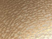 Fondo del metal del oro con el modelo circular Fotografía de archivo