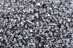 Fondo del metal hecho de muchos pedazos Foto de archivo libre de regalías