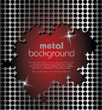 Fondo del metallo Fotografie Stock
