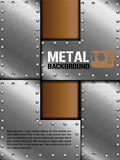 Fondo del metallo Fotografia Stock