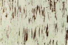Fondo del metallo bianco con ruggine Fotografia Stock