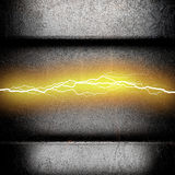Fondo del metallo con fulmine elettrico Fotografia Stock Libera da Diritti