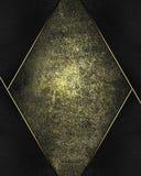 Fondo del metallo di lerciume con la struttura nera Mascherina per il disegno copi lo spazio per l'opuscolo dell'annuncio o l'inv Fotografia Stock