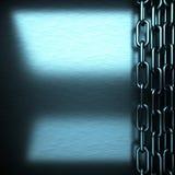 Fondo del metallo spazzolato blu Immagini Stock Libere da Diritti