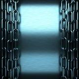 Fondo del metallo spazzolato blu Fotografia Stock Libera da Diritti