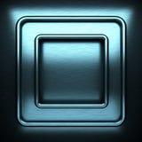 Fondo del metallo spazzolato blu Fotografia Stock