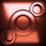 Fondo del metallo spazzolato rosso Immagine Stock