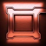 Fondo del metallo spazzolato rosso Immagini Stock Libere da Diritti