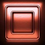 Fondo del metallo spazzolato rosso Immagini Stock